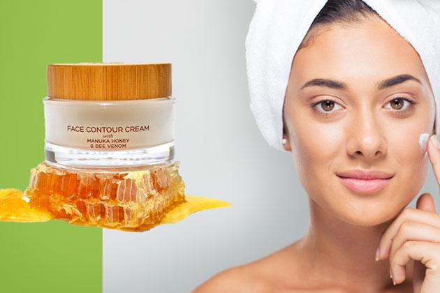 Crema antirid Queen of the Hive cu venin de albine si miere de manuka 100% organica