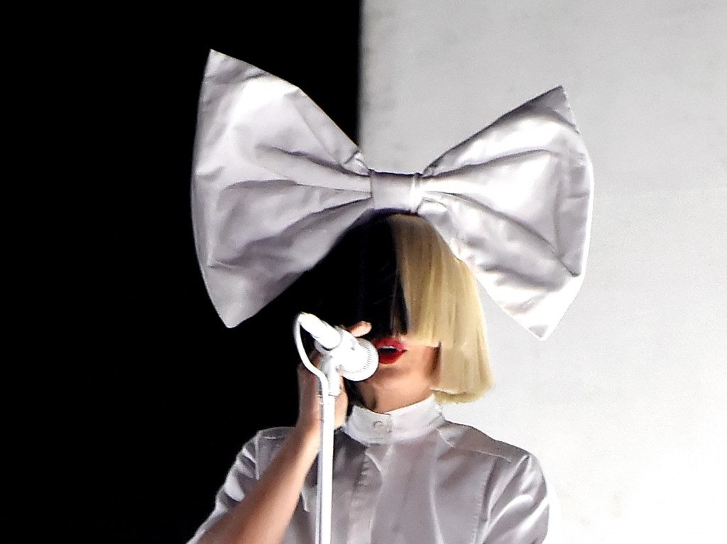 INDIO, CA - APRIL 24:  Sia performs onstage during day 3 of the 2016 Coachella Valley Music & Arts Festival Weekend 2 at the Empire Polo Club on April 24, 2016 in Indio, California.  (Photo by Kevin Winter/Getty Images for Coachella)
