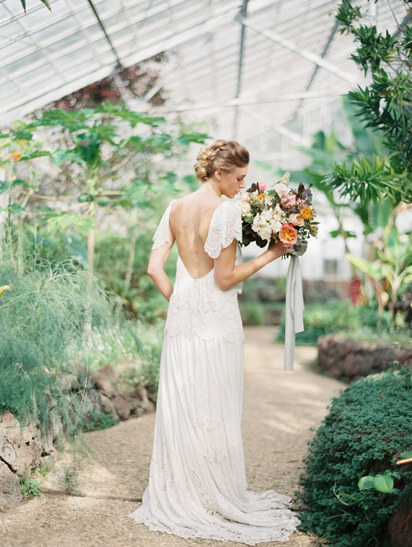 Ruffled - photo by Luna de Mare Photography http://ruffledblog.com/greenhouse-romance-wedding-editorial