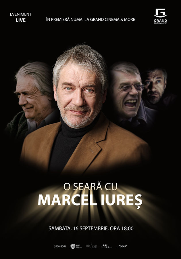 Eveniment LIVE: Petrece o seara cu Marcel Iures la Grand Cinema & More din Baneasa Shopping City!