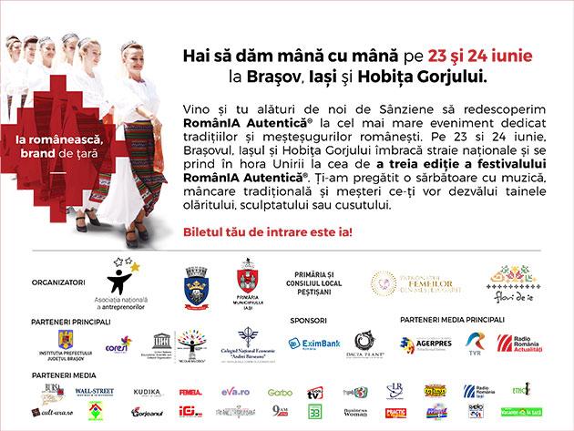 Festivalul RomanIA Autentica 23-24 Iunie 2018